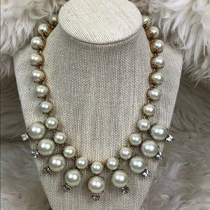 J. Crew pearl statement/bib necklace
